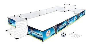 Dunlop Fußball Set - Zaun Fußballkäfig, 2x Fußballtor, Fußball und Pumpe - 426 x 235 x 36 cm