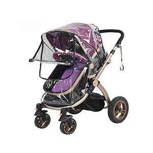 1 Stück Regenschutz für Kinderwagen Universal Regenverdeck für Buggy Wasserdicht Windschutz mit Zugangsfenster