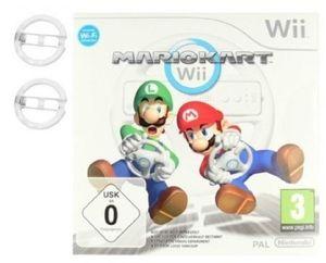 Nintendo Wii Mario Kart Spiel+ 2X  Lenkrad Weiß