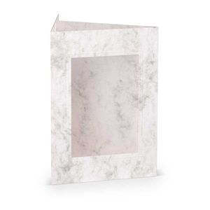 Rössler Papier - - Paperado-Karte Ft.B6 PP-eckig, Grau Marmora - Liefermenge: 25 Stück