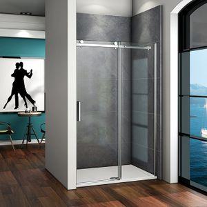 B.120cm x H.195cm Duschkabine Schiebetür dusche Duschwand  6mm ESG-Glas Nischentür Duschabtrennung Gleittür