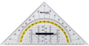 WESTCOTT Geodreieck Hypotenuse: 220 mm mit Griff