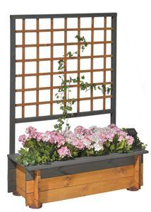 GASPO Blumenkasten mit Spalier My-Style-Colour, 99x46,5x136 cm, vintage-grau/honig