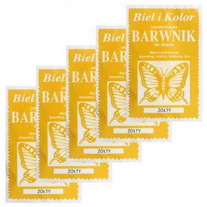 5 x 10g Batikfarbe Textilfarbe Stofffarbe färben, bitte Farbmix wählen, Farbe:gelb