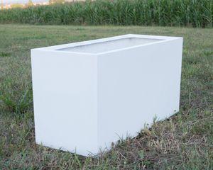 Pflanztrog, Blumentrog Fiberglas 100x40x50cm perlmutt weiß