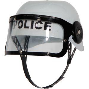 Kinder Polizei Einsatzhelm weiß / Polizist Kostüm Zubehör
