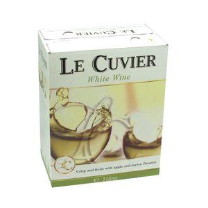 Bag-in-Box - Le Cuvier Weißwein lieblich - Vin de la Communité Européenne - Spanien/Frankreich/Italien 3 L., Box mit:1 Box