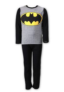 Batman DC Comics Jungen Kinder Schlafanzug Pyjama Set, Farbe:Grau, Größe:134