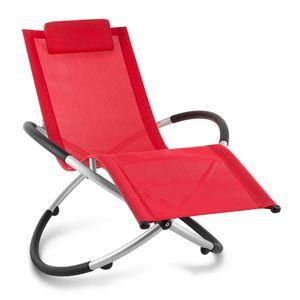 Blumfeldt Chilly Billy ergonomische Relaxliege Liegestuhl Gartenstuhl Klappstuhl (Liege, 120 kg maximale Belastung, atmungsaktiv, witterungsbeständig, pflegeleicht, faltbar) rot