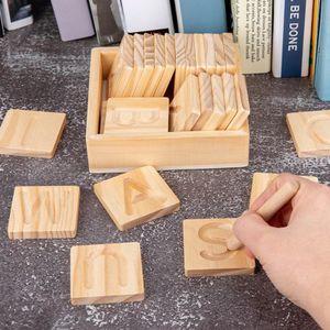 Holz Alphabet Tracing Puzzle Holz Karten Blöcke Hauptstadt Brief Anerkennung