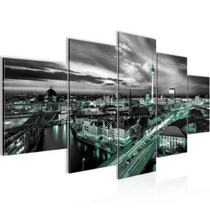 Stadt Berlin BILD :200x100 cm − FOTOGRAFIE AUF VLIES LEINWANDBILD XXL DEKORATION WANDBILDER MODERN KUNSTDRUCK MEHRTEILIG 004351b