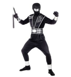 Kostüm Spiegel-Ninja, Groesse:158