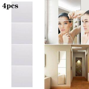 4tlg Spiegel Wandaufkleb 30*30cm Spiegelfliesen Stikers Reflektierend Wandspiegel Selbstklebend Wand Wohndekoration