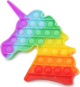 Push Pop It Bubble Spielzeug, Anti-Stress Fidget Toy für Kinder und Erwachsene, Einhorn