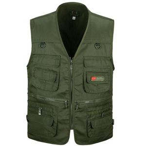 Multi Pocket Weste XXXL Armeegrün
