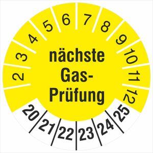 2500 Prüfplaketten nächste Gasprüfung 30 mm Prüfetiketten 2020-25