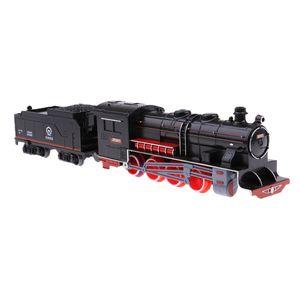 Kind Fahrzeug Spielzeug Dampflokomotive Zug Modell retro Kohlewagen Zug Modell
