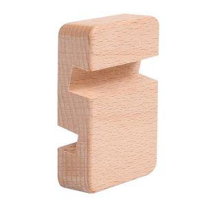 1 Stück Holz-Handyhalter Farbe Doppelschlitz
