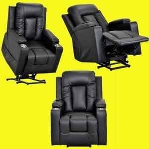 Elektrischer Fernsehsessel Aufstehsessel Relaxsessel Sessel mit Aufstehhilfe schwarz Verstellbarer Einzelsofa Stuhl