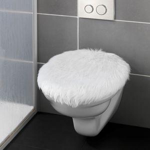 WC-Sitz Toilettendeckel Klodeckel Toilettensitz Fell-Optik