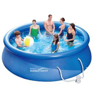 Summer Waves Fast Set Quick Up Pool Swimmingpool mit Filterpumpe Ø 366 x 91 cm