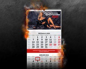 SCHÜTTFLIX 4-Monatskalender Kalender Wandkalender 2021 mit Sophia Thomalla