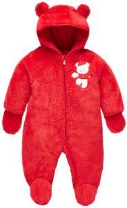 Baby Schneeanzüge Winter Overall mit Kapuze Fleece Strampler Mädchen Jungen Warm Outfits 0-18 Monate
