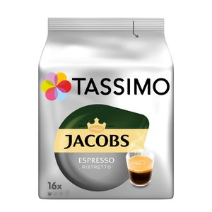 Tassimo Jacobs Espresso Ristretto | 16 T Discs, Kaffeekapseln