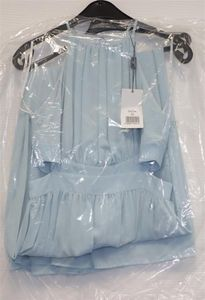 APART Damen Abendkleid aus zartem Chiffon, hellblau, 36
