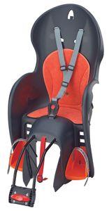 Polisport Sicherheits-Kindersitz WALLAROO für hinten, mit Rahmenbefestigung, verstellbare Fußrasten mit Sicherheitsschnallen, 3-Punkt-Hosenträgergurt mit Schnellverschluß, bequemes Sitzpolster, bis 22 kg Körpergewicht; 0005