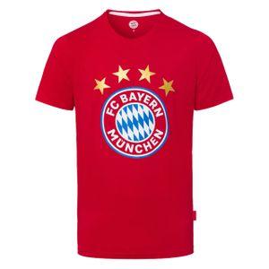 FC BAYERN MÜNCHEN Herren T-Shirt Logo rot L