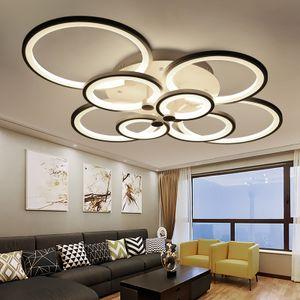 LED Deckenleuchte Deckenlampe 6067-8  100x80x17cm LED 148W  mit Fernbedienung Lichtfarbe/Helligkeit einstellbar dimmbar weiß lackierte Metallrahmen  weiße Acryl-Schirme A+