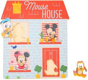 Disney Mickey Minnie & Donald Steck Formen Holz Puzzle Spielzeug