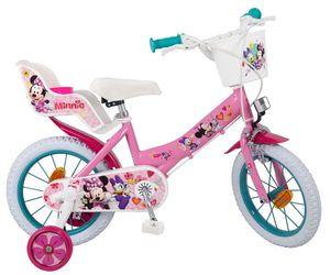 14 Zoll Kinderfahrrad Kinder  Mädchen Fahrrad Mädchenfahrrad Kinderrad Bike Rad MINNIE Mouse Maus Toimsa 613