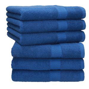 Betz 6 Stück Handtücher PALERMO 100% Baumwolle Handtuch-Set , Farbe blau