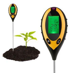 Karpal Bodentester 4 in 1 Bodenmessgeraet PH Wert PH Feuchtemessgeraet Digitales Boden Feuchtigkeit Bodenfeuchtesensor Belichtungsmesser fuer Pflanzenerde, Garten, Bauernhof, Rasen