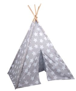Jugend Kinder Tipi Zelt Spielzelt mit Sternen Zelten Kinderzelt Indianerzelt