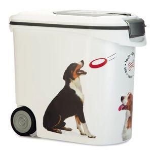Curver Tierfutterbehälter mit Rollen Hund 35 L