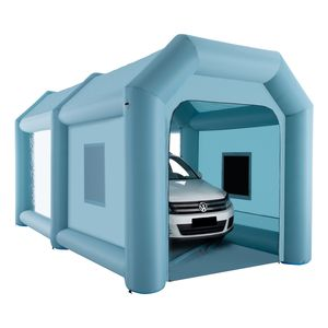 Crenex  6X3X3M Aufblasbare Sprühkabine Zelt Aufblasbare Lackierkabine Zelt Spritzkabine Großes Autozelt Partyzelt Campingzelt Luftzelt mit 2 elektrische Gebläse Zelt für auto