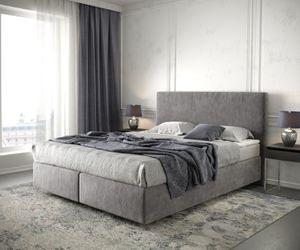 DELIFE Bett Dream-Well Mikrofaser Taupe 160x200 cm mit Matratze und Topper