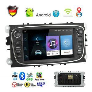 7 zoll Autoradio GPS Navi Android für Ford Focus II C/S-MAX Kuga Galaxy II Mondeo 9 Transit Connect