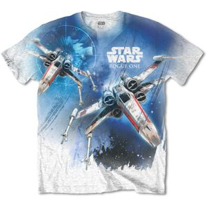 Star Wars Herren-T-Shirt Rogue One 'X-Wing' Blau : Kultiges T-Shirt von Marvel Comics mit Deadpool-MotivMaterial: 70