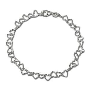 SilberDream Armband 19cm 925er Sterling Silber Herzchen Damen Schmuck SDA2119J