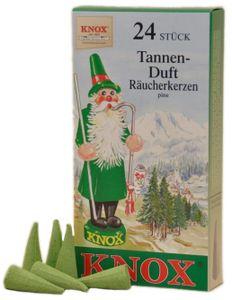 Knox - Räucherkerzen 24 Stk. - Tanne / pine, Brenndauer 10-13min
