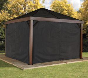 Sojag Pavillon Vorhänge Schwarz passend für alle South Beach Modelle