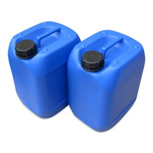 2 Stück 10 Liter 10 L Kanister, Wasserkanister Farbe blau lebensmittelecht DIN51 (2x10knb51)