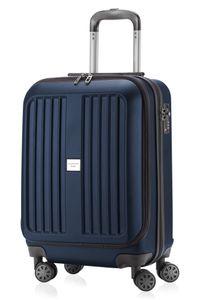 HAUPTSTADTKOFFER - X-Berg - Handgepäck + Laptopfach Koffer Trolley Hartschale, dunkelblau, 55 cm, 42 Liter