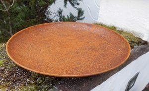 Eisenschale Eisenteller Pflanzschale Dekoschale Echtrost 45 cm Durchmesser