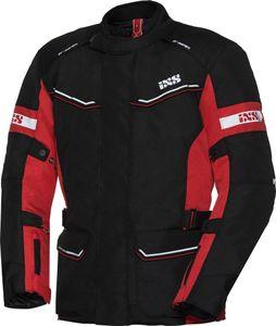 IXS Tour Evans-ST Damen Motorrad Textiljacke Farbe: Schwarz/Rot, Grösse: Damen L