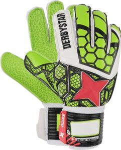 DERBYSTAR Protect Hexa AG 1 Torwarthandschuh mit Fingerschutz grün/weiß/rot 9